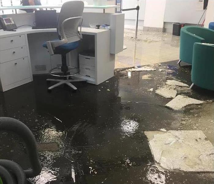 Commercial Water Damage – Canoga Park  Before