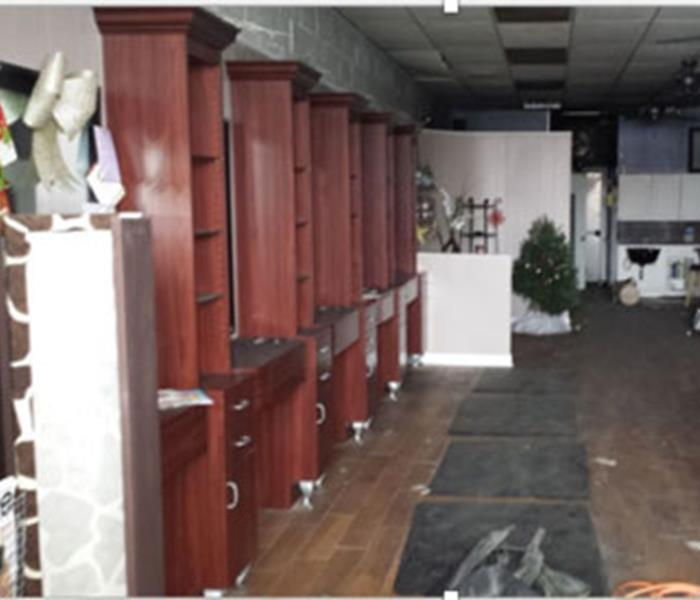 Commercial Water Damage to a Beauty Salon