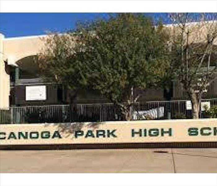 Canoga Park High School sign