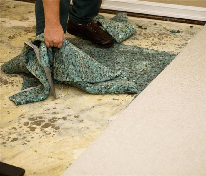 carpet removal from concrete floor