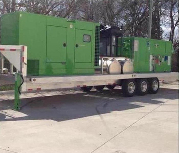 Our desiccant dehumidifier in a parking lot
